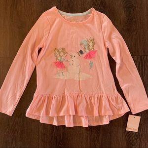 NWT Snowman & Fairy Pink Long Sleeve TShirt, 7/8